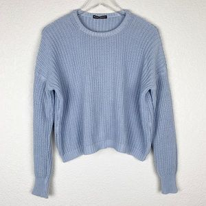 Brandy Melville Crop Chunky Boxy Sweater Jumper